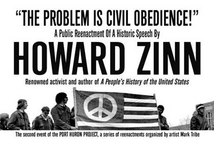 the problem is civil obedience What would howard zinn say you have to get a little detached, and then come back and look at the world our problem is civil obedience our problem is the numbers of people all over the world who have obeyed the dictates of the leaders of their government and have gone to war.